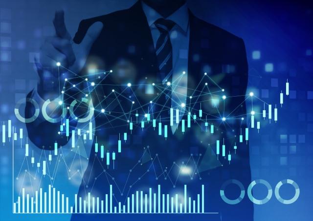 ビジネスマンと株価