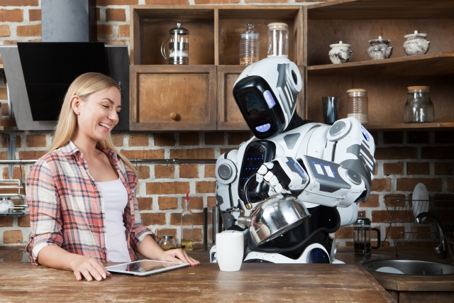 ロボットと人