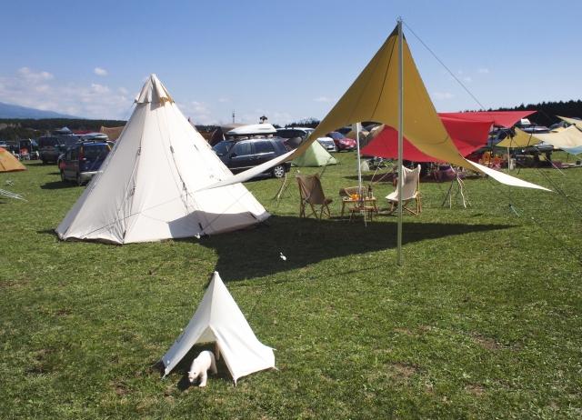 おしゃれな形のテント